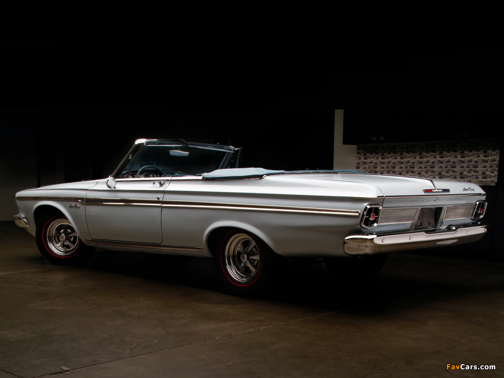 Plymouth Sport Fury Convertible (TP2-P 345) 1963 wallpapers (1024 x 768)