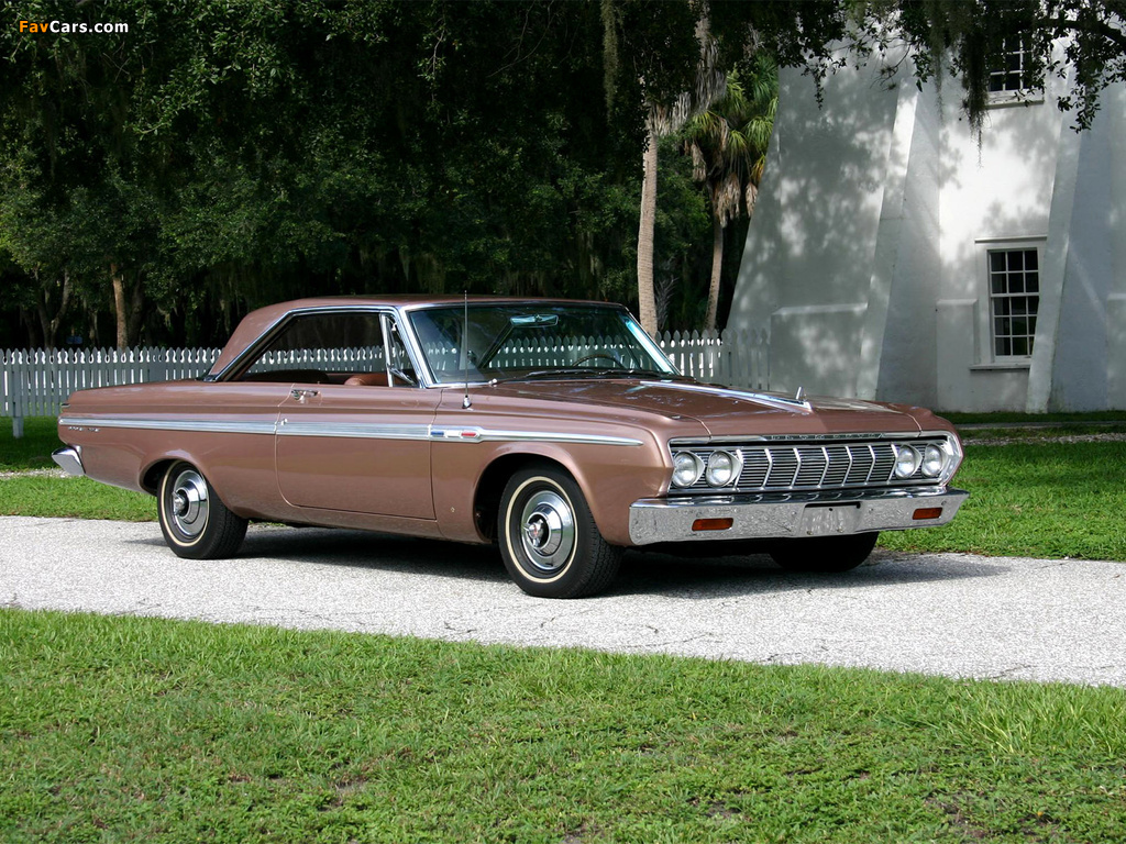 Plymouth Sport Fury Hardtop Coupe (VP2-P 342) 1964 wallpapers (1024 x 768)