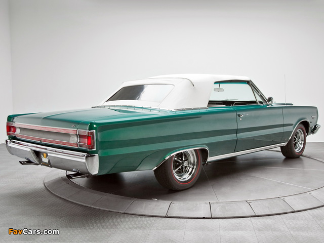 Images of Plymouth Belvedere GTX 440 Convertible (RS27) 1967 (640 x 480)