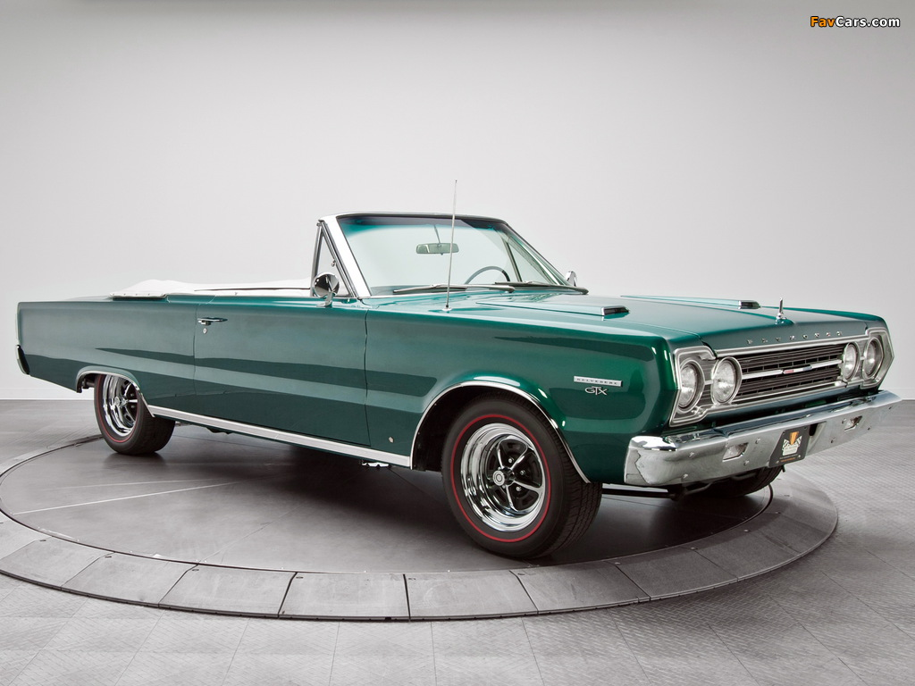 Plymouth Belvedere GTX 440 Convertible (RS27) 1967 images (1024 x 768)
