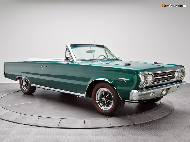 Plymouth Belvedere GTX 440 Convertible (RS27) 1967 images (800 x 600)