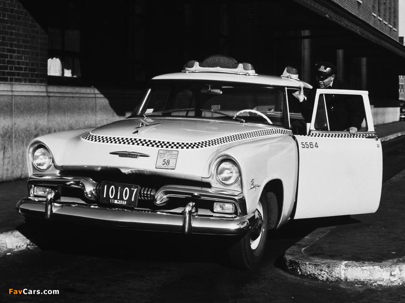 Plymouth Plaza Club Sedan Taxi 1955 wallpapers (800 x 600)