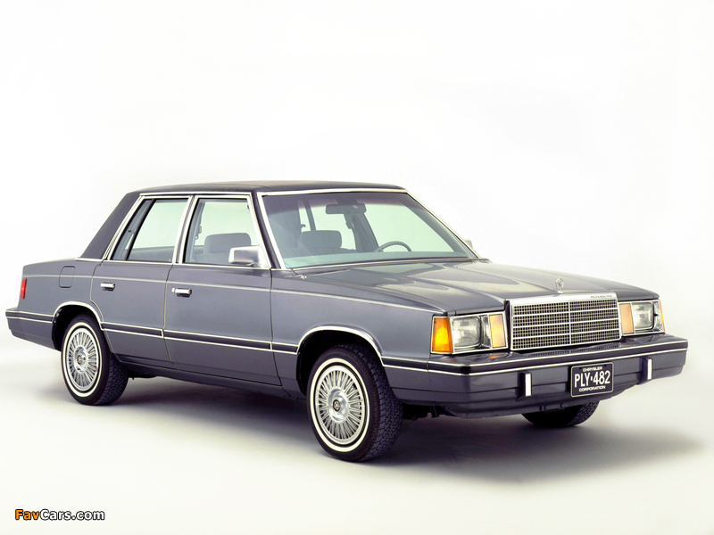 Plymouth Reliant 1981–85 images (800 x 600)