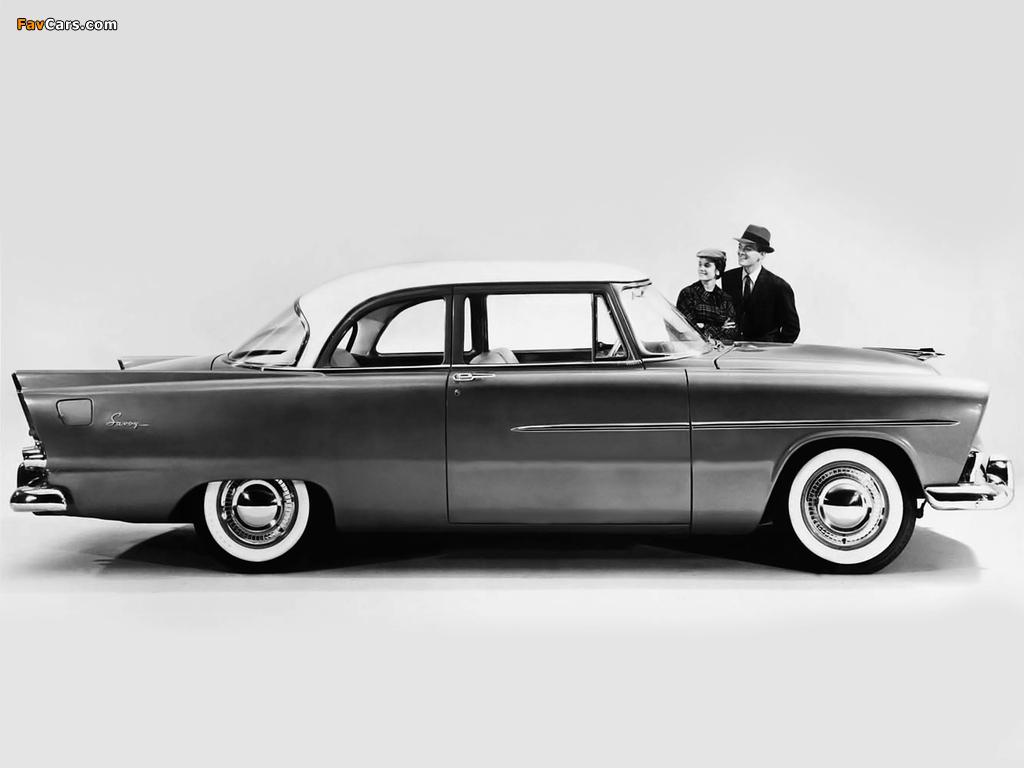 Plymouth Savoy 2-door Club Sedan 1956 wallpapers (1024 x 768)
