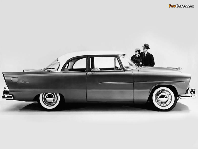 Plymouth Savoy 2-door Club Sedan 1956 wallpapers (800 x 600)