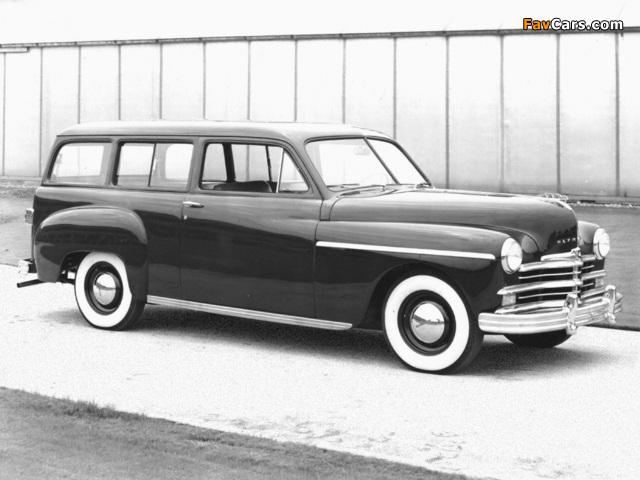 Plymouth Deluxe Suburban (P-17) 1949 photos (640 x 480)