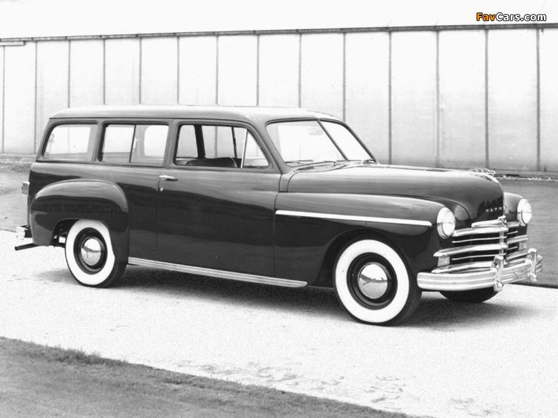 Plymouth Deluxe Suburban (P-17) 1949 photos (800 x 600)