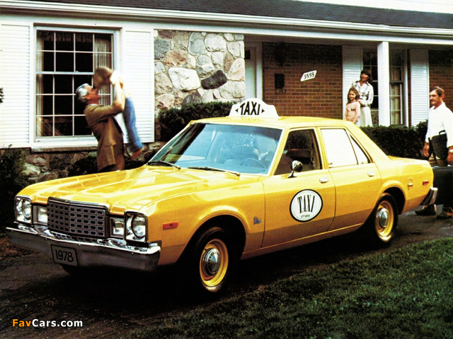Plymouth Volare Taxi 1978 wallpapers (640 x 480)