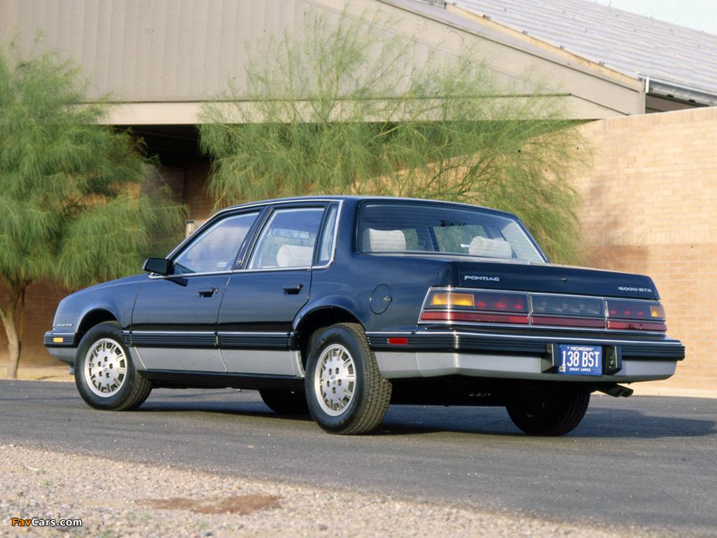Pontiac 6000 STE 1983–87 photos (1024 x 768)