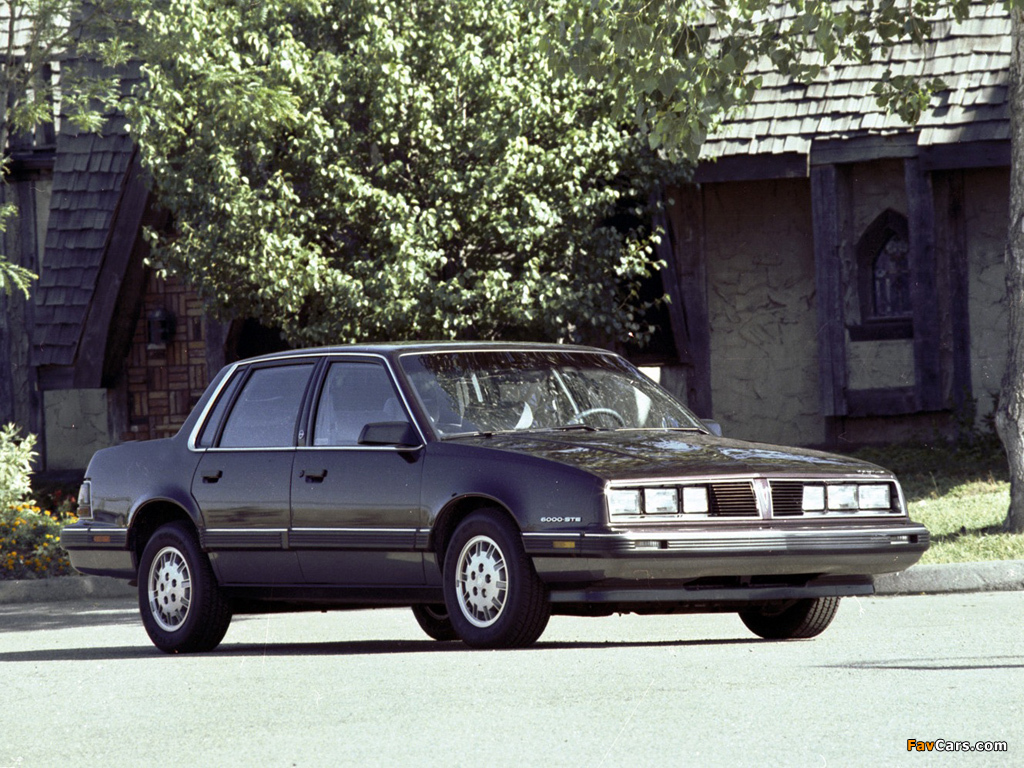 Pontiac 6000 STE 1983–87 wallpapers (1024 x 768)