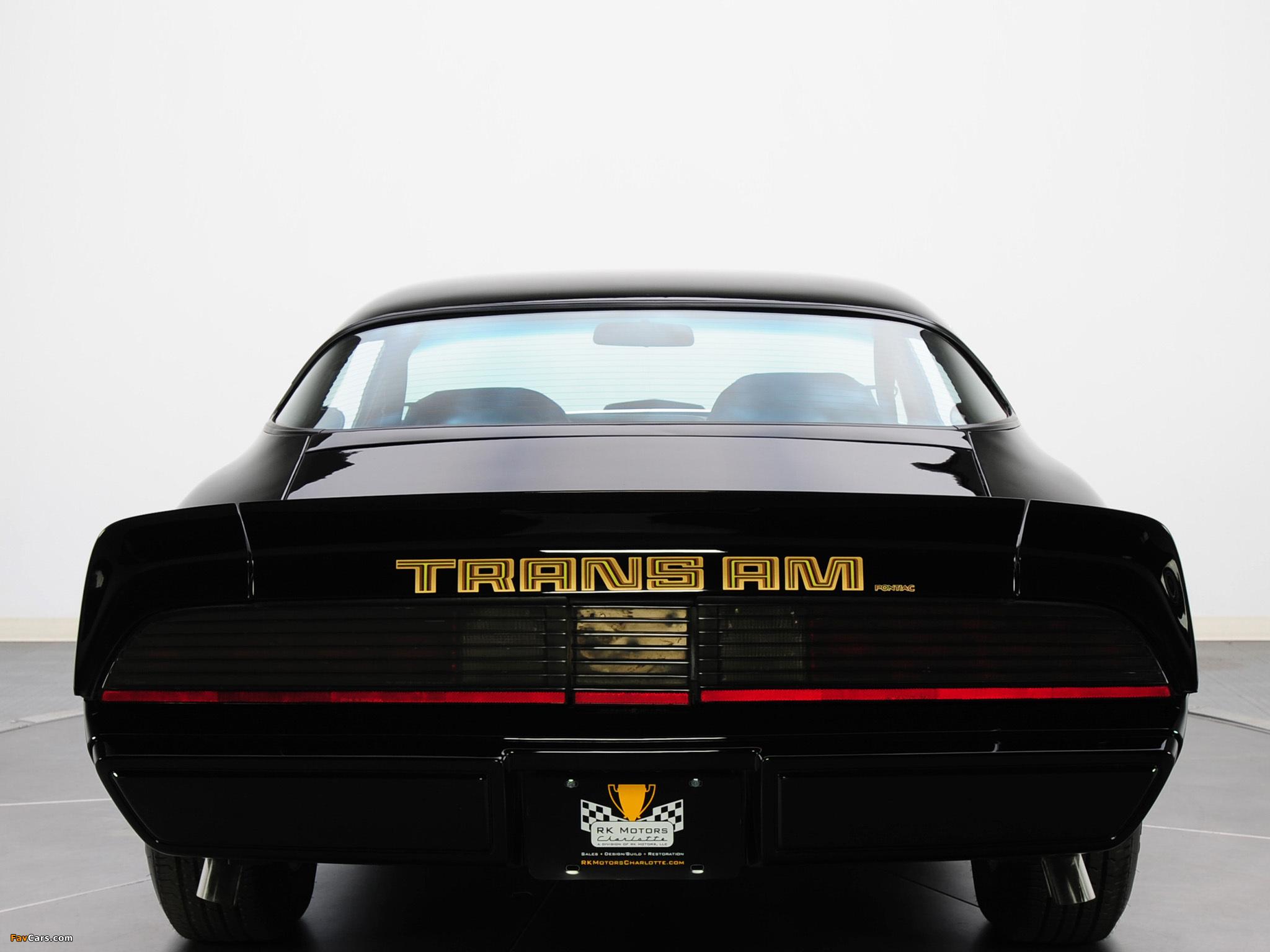 Photos of Pontiac Firebird Trans Am T/A 6.6 L78 1979 (2048 x 1536)