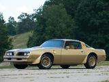 Pontiac Firebird Trans Am Gold Special Edition 1978 pictures