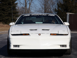 Pontiac Firebird Trans Am Turbo 20th Anniversary Indy 500 Pace Car 1989 pictures