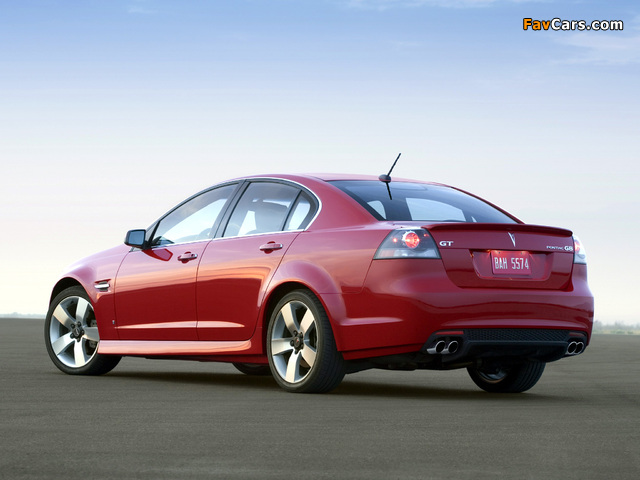 Pictures of Pontiac G8 GT 2008–09 (640 x 480)