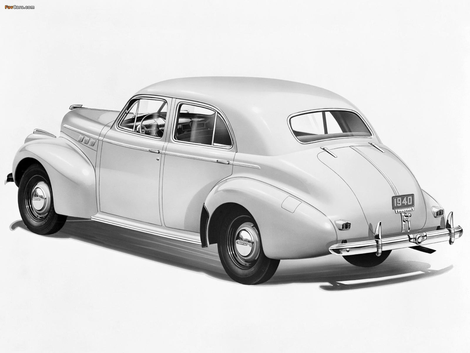 Images of Pontiac Torpedo Eight Touring Sedan (2919) 1940 (1600 x 1200)