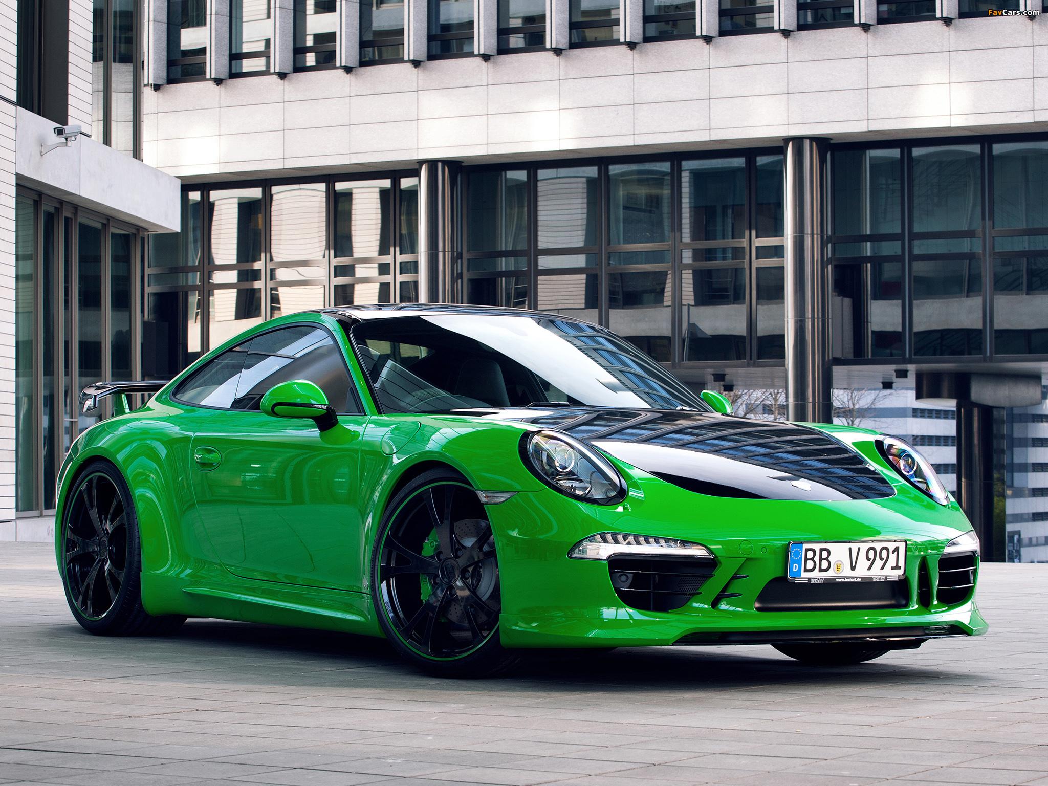 зееный автомобиль Porsche 911 Carrera 4S скачать