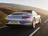 Pictures of Porsche 911 Carrera S Cabriolet UK-spec (991) 2011