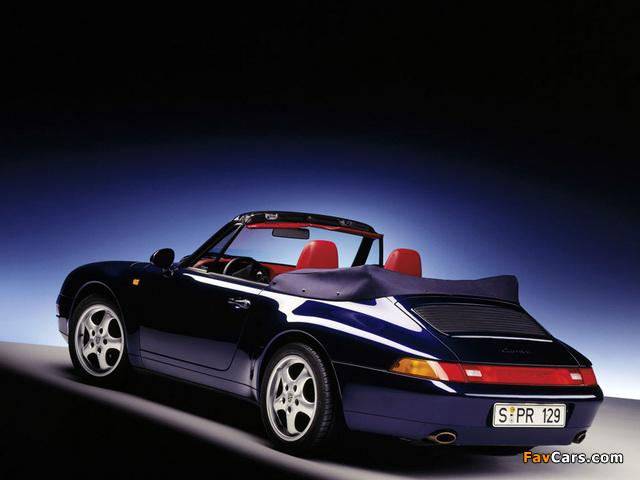 Porsche 911 Carrera 3.6 Cabriolet (993) 1994–98 photos (640 x 480)