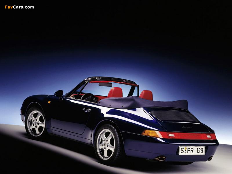 Porsche 911 Carrera 3.6 Cabriolet (993) 1994–98 photos (800 x 600)