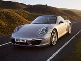 Porsche 911 Carrera S Cabriolet UK-spec (991) 2011 pictures