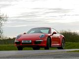 Porsche 911 Carrera 4S Coupe UK-spec (991) 2012 pictures