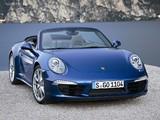 Porsche 911 Carrera 4 Cabriolet (991) 2012 wallpapers