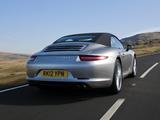 Porsche 911 Carrera S Cabriolet UK-spec (991) 2011 wallpapers