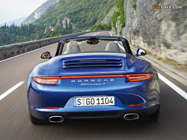 Porsche 911 Carrera 4 Cabriolet (991) 2012 wallpapers (640 x 480)