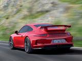 Photos of Porsche 911 GT3 (991) 2013
