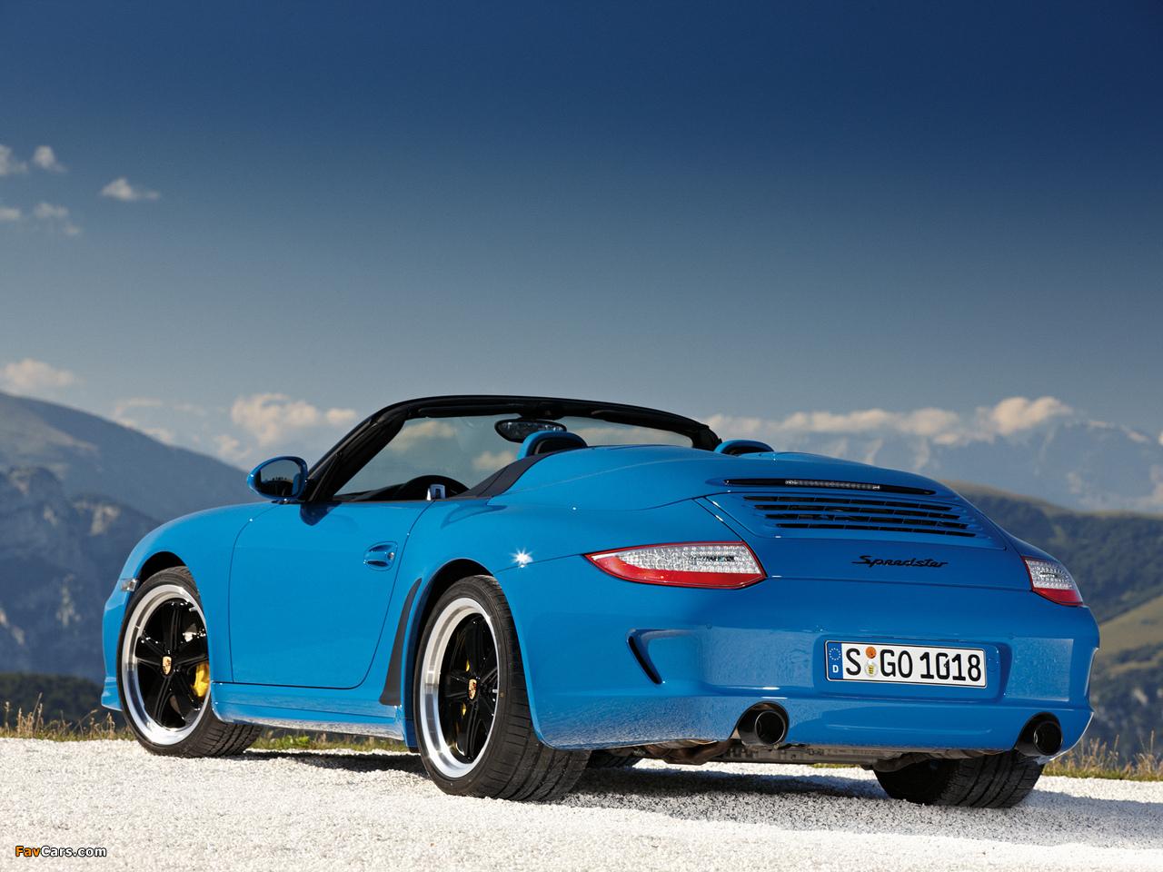 Porsche 911 Speedster 997 2010 Pictures 1280x960