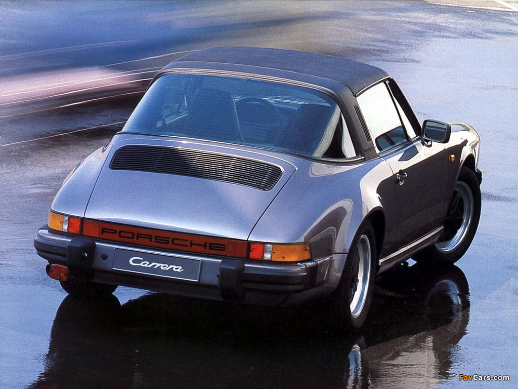 Porsche 911 Carrera 3 2 Targa 930 1983 89 Wallpapers