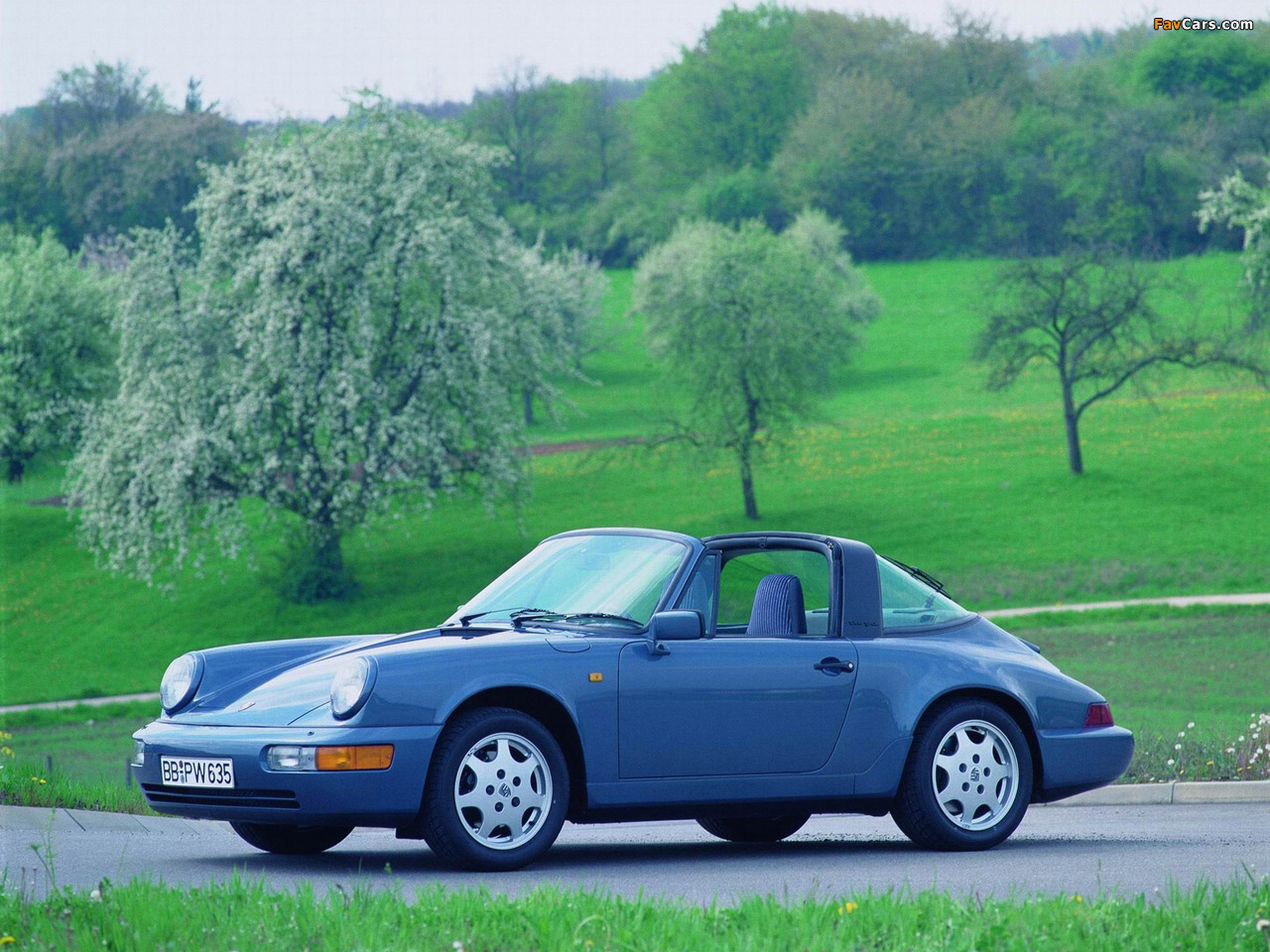 Porsche 911 Carrera 4 Targa (964) 1989–93 wallpapers (1280 x 960)