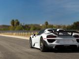 """Porsche 918 Spyder """"Weissach Package"""" US-spec 2014–15 images"""