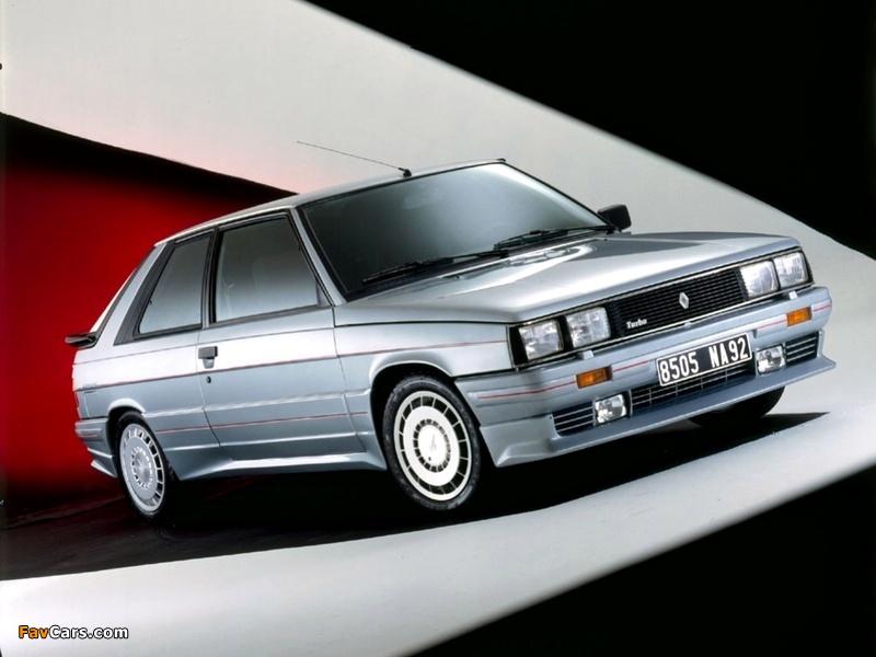 Zender Renault 11 Turbo 1985–86 wallpapers (800 x 600)