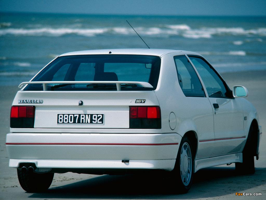 Photos of Renault 19 16V 3-door 1988–92 (1024 x 768)