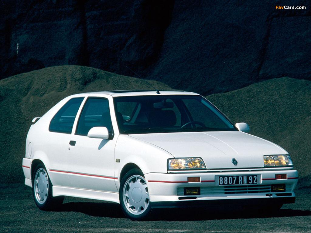 Renault 19 16V 3-door 1988–92 photos (1024 x 768)