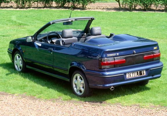 renault 19 cabrio 1992 96 wallpapers. Black Bedroom Furniture Sets. Home Design Ideas