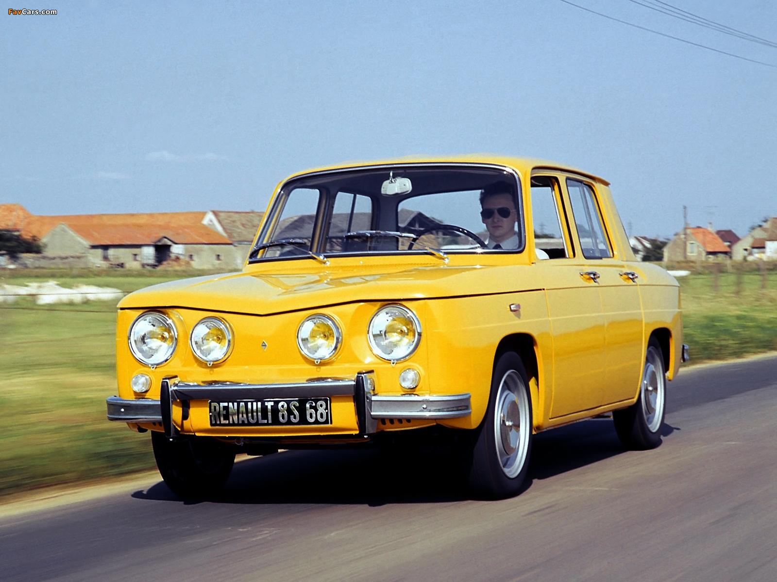 Renault 8 S 1969–71 wallpapers (1600 x 1200)