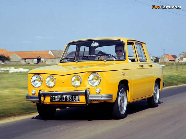 Renault 8 S 1969–71 wallpapers (640 x 480)