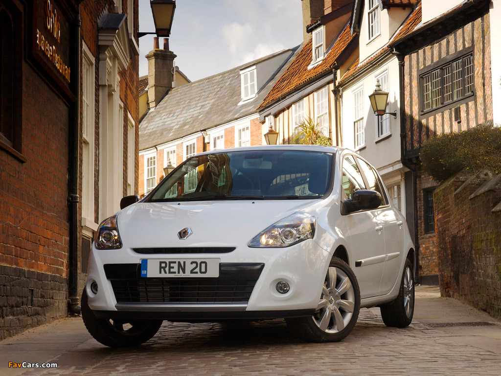 Images of Renault Clio 20th Limited Edition UK-spec 2010 (1024 x 768)