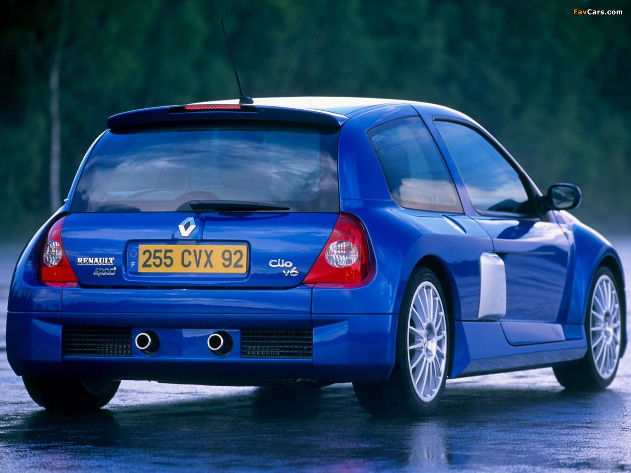 Photos of Renault Clio V6 Sport 2003–04 (1280 x 960)