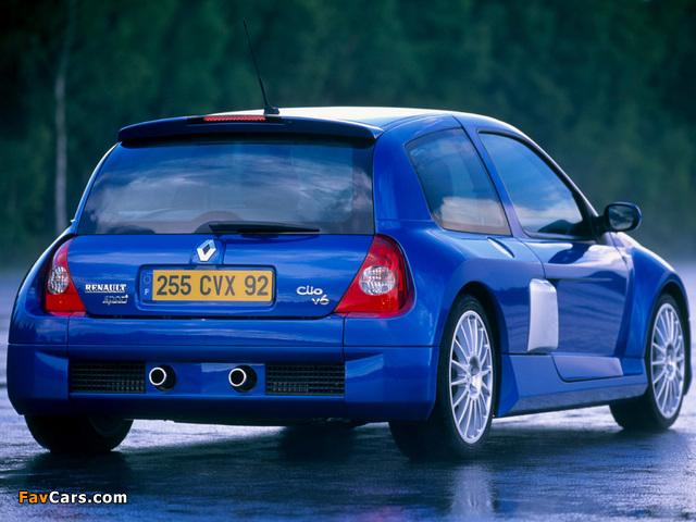 Photos of Renault Clio V6 Sport 2003–04 (640 x 480)