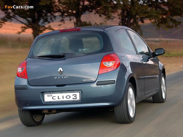 Photos of Renault Clio 3-door ZA-spec 2006–09 (640 x 480)