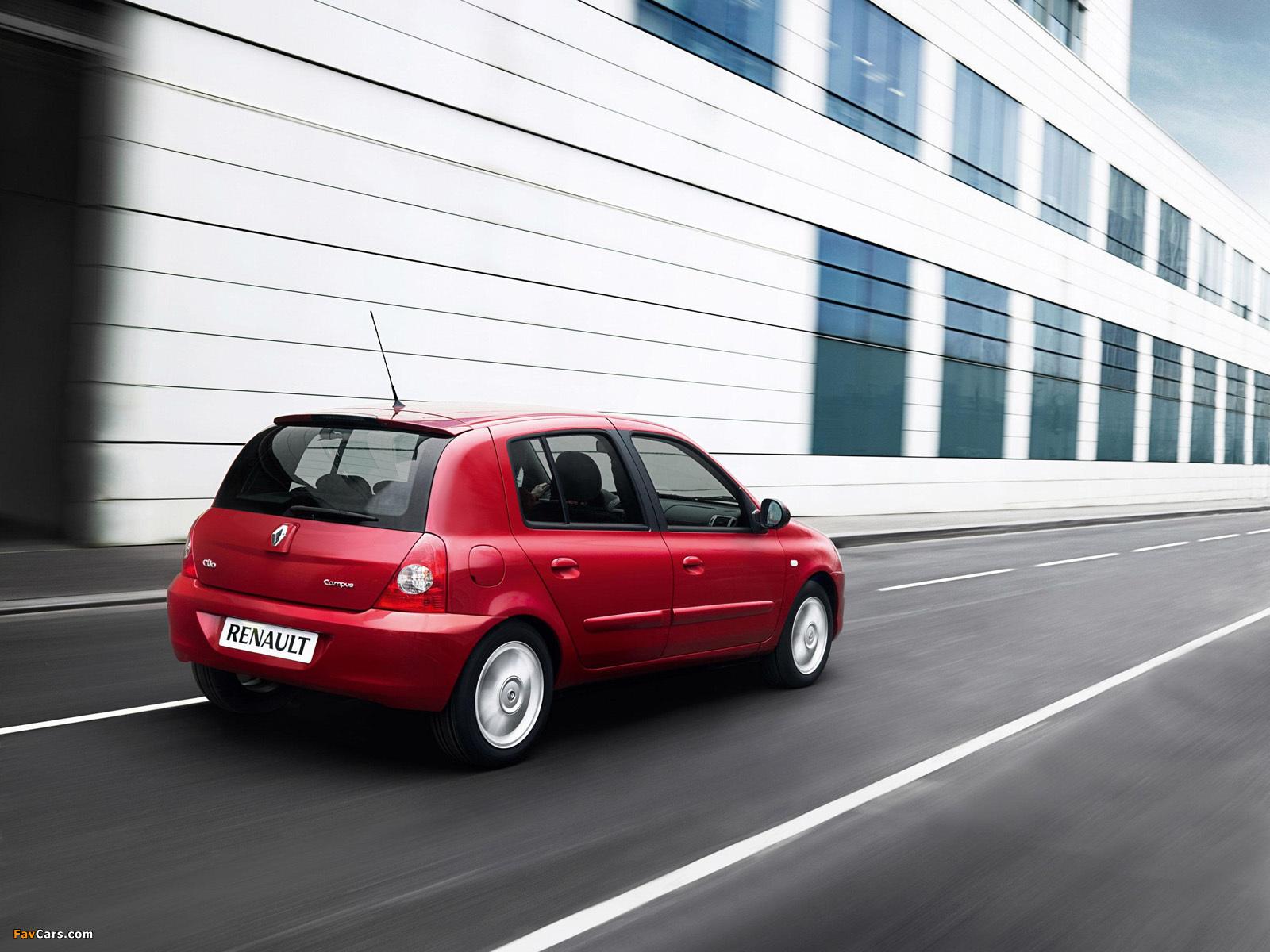 Photos of Renault Clio Campus 5-door 2009–12 (1600 x 1200)