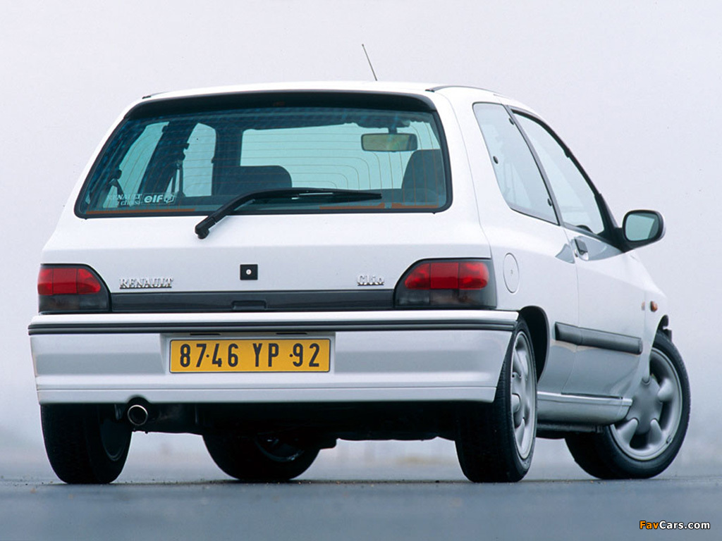 Renault Clio 16S 1994–96 wallpapers (1024 x 768)
