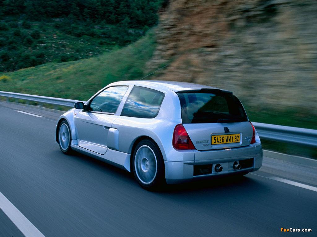 Renault Clio V6 Sport 1999–2001 photos (1024 x 768)