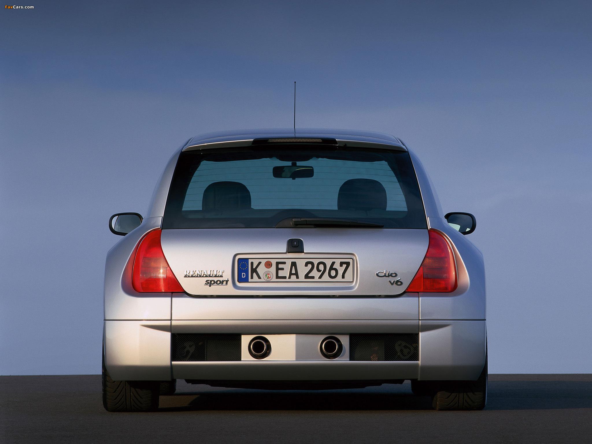 Renault Clio V6 Sport 1999–2001 photos (2048 x 1536)