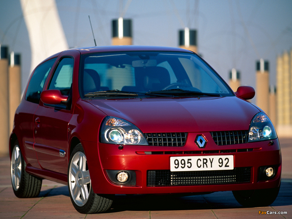 Renault Clio RS 2002–05 photos (1024 x 768)