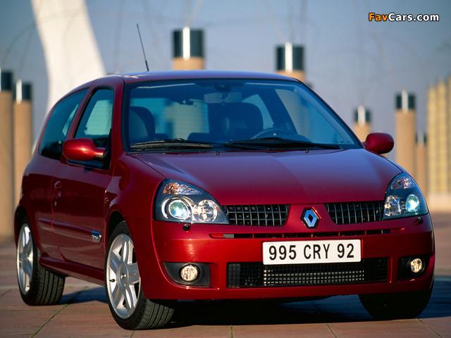 Renault Clio RS 2002–05 photos (640 x 480)