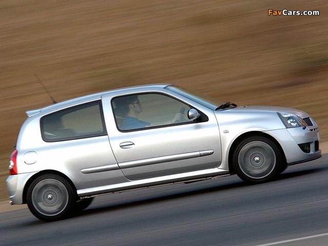 Renault Clio Sport ZA-spec 2002–05 photos (640 x 480)